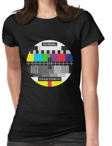 TV No Signal Womens Fitted T-Shirt