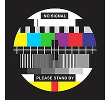 TV No Signal Photographic Print