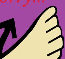 ASL Sorry! Sticker