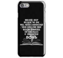 BOOK SMELL iPhone Case/Skin
