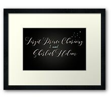 Forget Prince Charming Framed Print