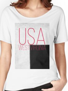 WEST VIRGINIA USA Women's Relaxed Fit T-Shirt