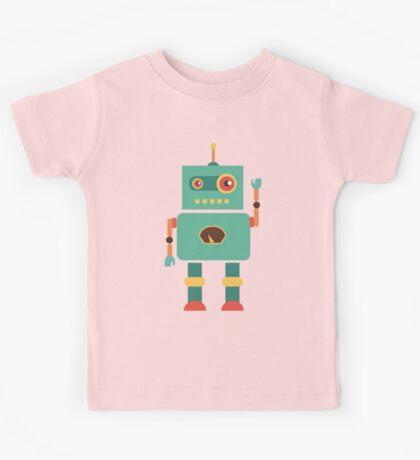 Fun Retro Robot Art Kids Tee