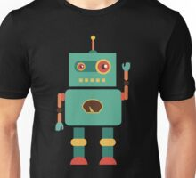 Fun Retro Robot Art Unisex T-Shirt