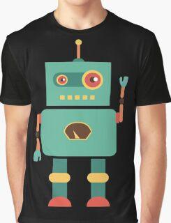Fun Retro Robot Art Graphic T-Shirt