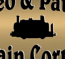 Leo & Pat's Train Corner Logo Sticker