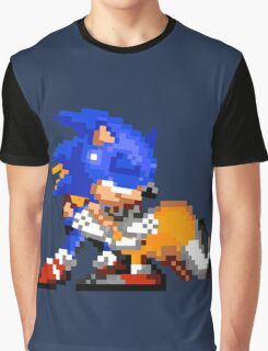 Sonic and Tails - Hugs Graphic T-Shirt