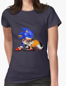 Sonic and Tails - Hugs Womens Fitted T-Shirt