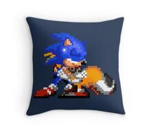 Sonic and Tails - Hugs Throw Pillow