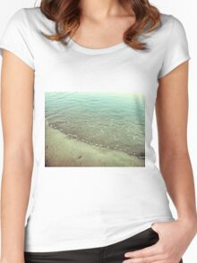 Abstract rippled water Women's Fitted Scoop T-Shirt