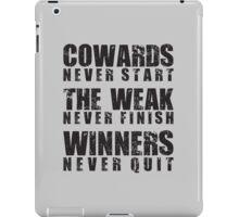 Winners Never Quit iPad Case/Skin