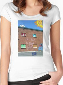 """""""The End is Near!"""" by Richard F. Yates Women's Fitted Scoop T-Shirt"""