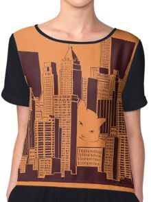 Cat in the Big City Chiffon Top