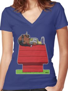 Snoop Women's Fitted V-Neck T-Shirt