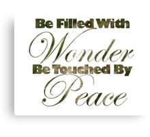 Peace and Wonder Canvas Print
