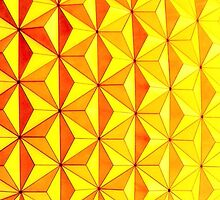 Yellow Geometric Pattern by madisoncenter
