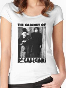 Caligari Poster b/w with lettering Women's Fitted Scoop T-Shirt