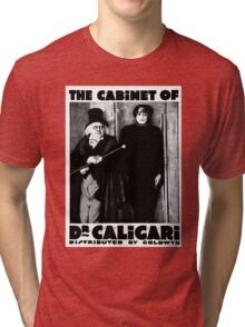 Caligari Poster b/w with lettering Tri-blend T-Shirt