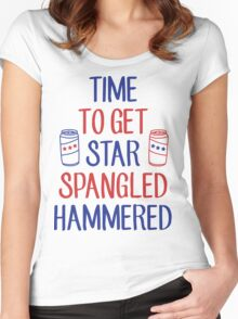 Star Spangled Hammered Women's Fitted Scoop T-Shirt