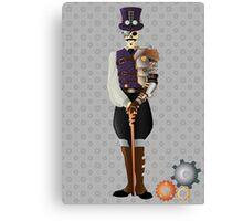 Steampunk Skeleton Canvas Print