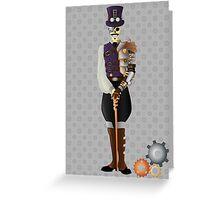 Steampunk Skeleton Greeting Card