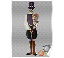 Steampunk Skeleton Poster