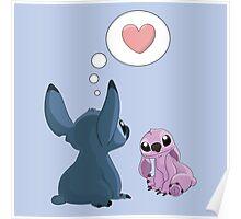Stitch Inspired Friendship. Poster