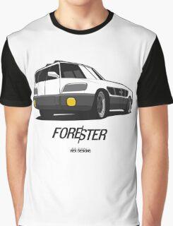 Subaru Forester Optical Illusion Graphic T-Shirt