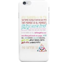 Half Moon Kids Speech iPhone Case/Skin