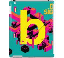 B initial design iPad Case/Skin