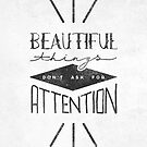 Beautiful Things Don't Ask For Attention by Zeke Tucker