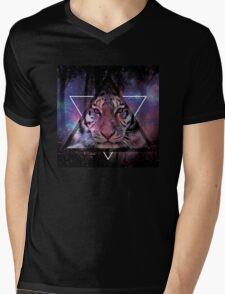 Wood Tiger Mens V-Neck T-Shirt
