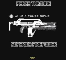 USCM - Peace through superior firepower by djtenebrae