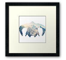 Elder Scrolls - Helmet - Ice Mountains Framed Print