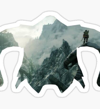 Elder Scrolls - Helmet - Mountains Sticker