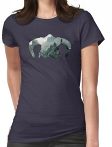 Elder Scrolls - Helmet - Mountains Womens Fitted T-Shirt