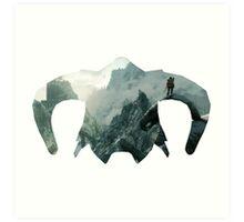 Elder Scrolls - Helmet - Mountains Art Print