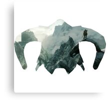 Elder Scrolls - Helmet - Mountains Canvas Print