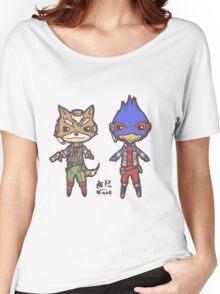 StarFox64- Fox Falco Chibi Women's Relaxed Fit T-Shirt