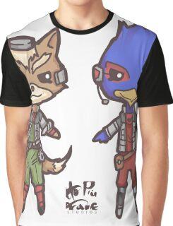 StarFox64- Fox Falco Chibi Graphic T-Shirt