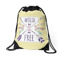 Wild & Free by Let's Be BOHO Brand Drawstring Bag