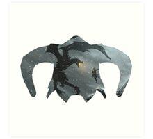 Elder Scrolls - Helmet - Dragon Battle Art Print