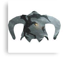 Elder Scrolls - Helmet - Dragon Battle Canvas Print