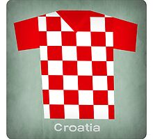 Retro Football Jersey Croatia by Daviz Industries