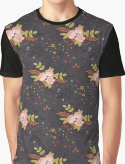 Woodland Flowers - Grey Graphic T-Shirt