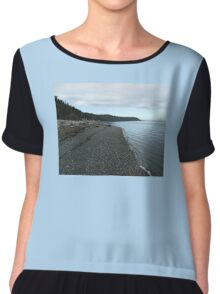 The Tide Is Low Chiffon Top