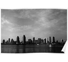 San Diego Sunset Skyline Poster