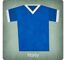 Retro Football Jersey Italy by Daviz Industries