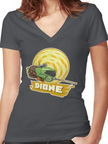 Dione Expedition Splash! Women's Fitted V-Neck T-Shirt