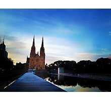 Cathedral at dusk Photographic Print